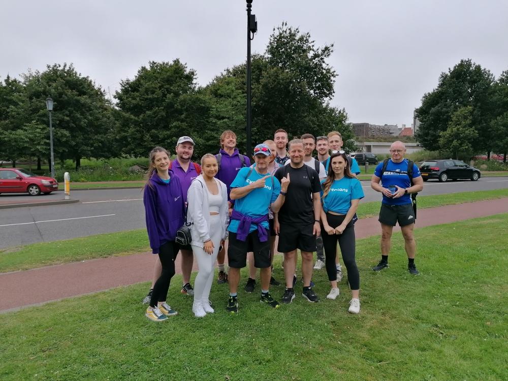 Bright Purple 7 hills challenge