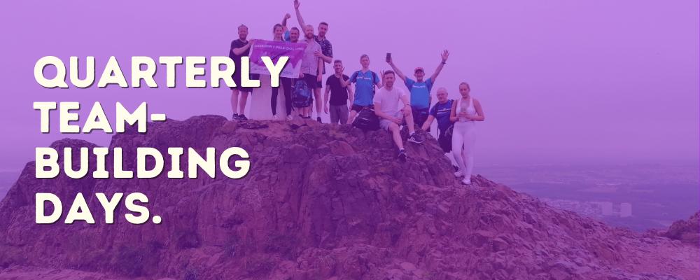 Quarterly Team Building - Bright Purple