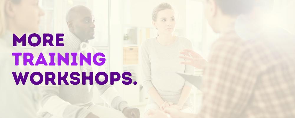 Training Workshops - Bright Purple
